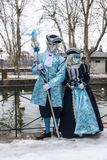 Disguised Couple - Annecy Venetian Carnival 2013 Royalty Free Stock Photo