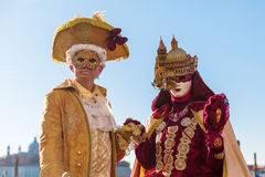 Disguised couple at the Carnival of Venice Royalty Free Stock Photo