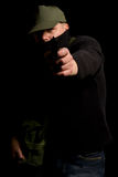 Disguised Gunman stock photography