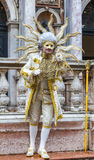 Disguised Man - Venice Carnival 2014 Stock Photo