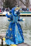 Disguised Person - Annecy Venetian Carnival 2013 Royalty Free Stock Image