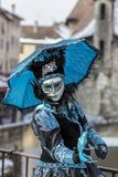 Disguised Person - Annecy Venetian Carnival 2013 Royalty Free Stock Images
