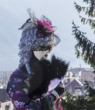 Disguised Person - Annecy Venetian Carnival 2014 royalty free stock images
