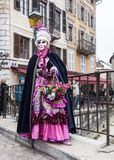 Disguised Person - Annecy Venetian Carnival 2013 Stock Photography