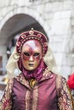 Disguised Person - Annecy Venetian Carnival 2013 Royalty Free Stock Photography