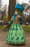 Disguised Person - Annecy Venetian Carnival 2014 stock photos