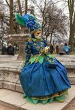 Disguised Person - Annecy Venetian Carnival 2014 stock image