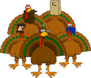 Disguised_turkeys Royalty Free Stock Image