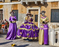 Disguised Venetian People Royalty Free Stock Photo
