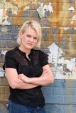 disgusted женщина Стоковая Фотография