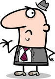 Disgusted businessman cartoon illustration Stock Photos