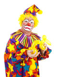 Disgusted Clown with Balloon Dog Stock Image