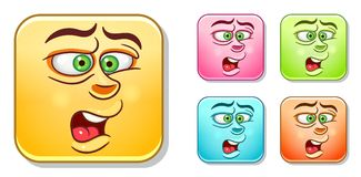 Disgusted Emoticons collection Royalty Free Stock Photo