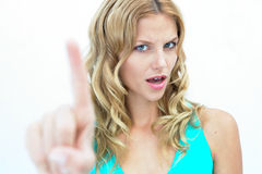Disgusted girl Royalty Free Stock Photos
