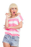 Disgusted girl Royalty Free Stock Photo