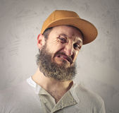 Disgusted man royalty free stock photos