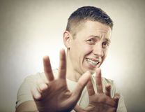 Disgusted man Stock Photography