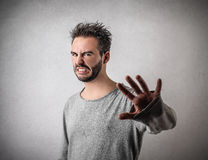 Disgusted man stock photos