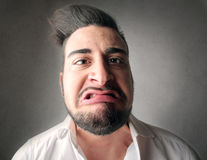 Disgusted man royalty free stock photo