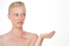 Disgusted nordic girl Stock Image