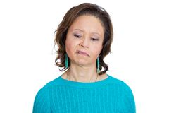 Disgusted old woman Royalty Free Stock Image