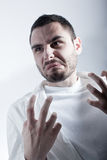 Disgusted researcher Stock Photo