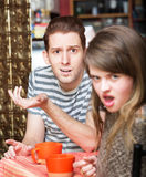 Disgusted Woman with Man Royalty Free Stock Photography