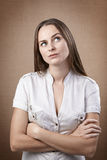 Disgusted woman Stock Photography