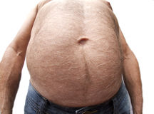 Disgusting Belly Royalty Free Stock Images