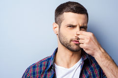 Disgusting smell. Royalty Free Stock Images