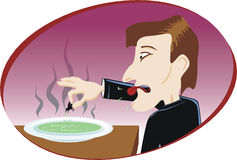Disgusting soup royalty free illustration