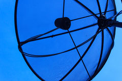 Dish aerial. Satellite dish with blue sky Stock Photography