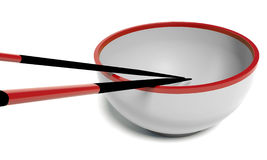 Dish And Chopstick Stock Photography