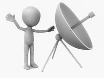 Dish antenna Royalty Free Stock Photos