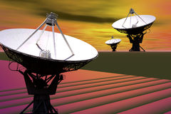 SATELLITE DISH ANTENNA ARRAY Stock Images