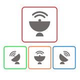 Dish  antenna satellite wireless technology Royalty Free Stock Image