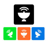 Dish  antenna satellite wireless technology Stock Photo