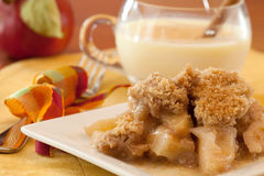 Dish Of Apple Crisp Stock Photos