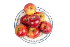 Dish of Apples Stock Images