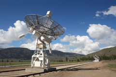 Dish Array, Dominion Radio Astrophysical Observato. A portion of the array at the Dominion Radio Astrophysical Observatory Radio Telescope in the Okanagan, near royalty free stock photo