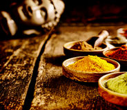 Dish of Asian curry powder Royalty Free Stock Photography