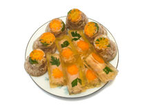Dish with aspic Royalty Free Stock Photography