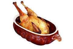 Dish of baked duck Stock Images