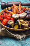 Dish of baked vegetables royalty free stock image