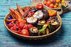 Dish of baked vegetables royalty free stock photography