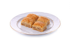 A dish of Baklava isoladed with clipping path Royalty Free Stock Photo