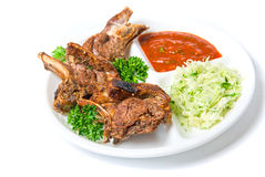 Dish of barbecued ribs Royalty Free Stock Photo
