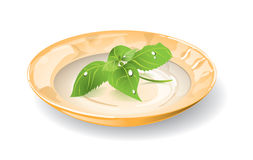 Dish with basil Royalty Free Stock Photography