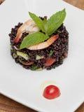 A dish of black rice Stock Photos