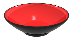 Dish bowl ceramic red black colors Royalty Free Stock Photo